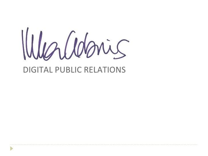 Digital Public Relations - C & W