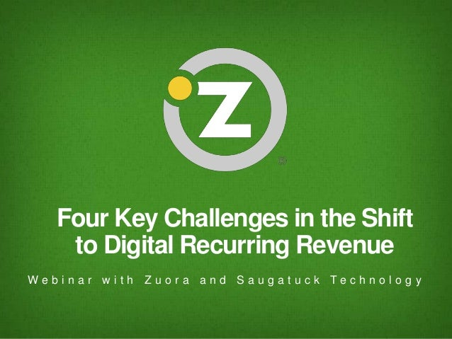 4 Key Challenges in the Shift to Digital Recurring Revenue
