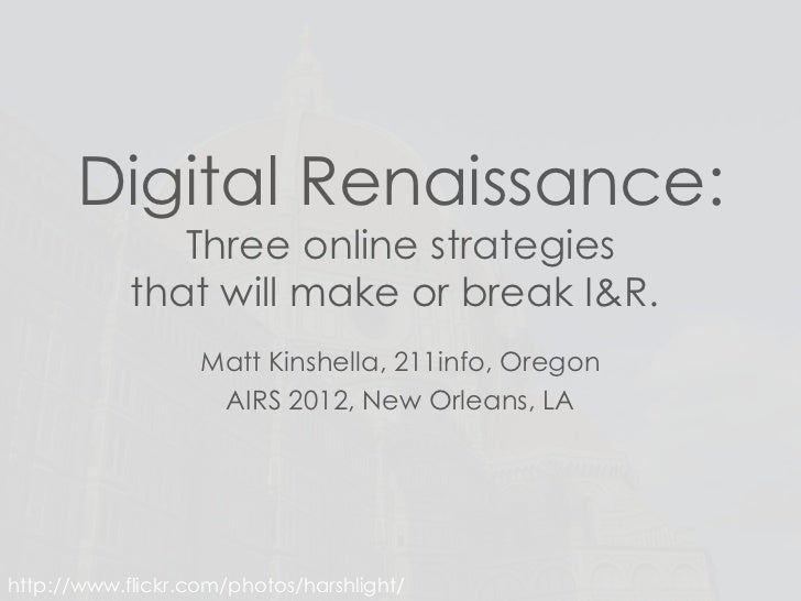 I & R Digital Renaissance - New Orleans, LA June 2012