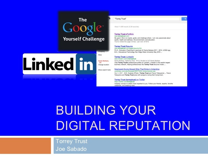 Building a Digital Reputation