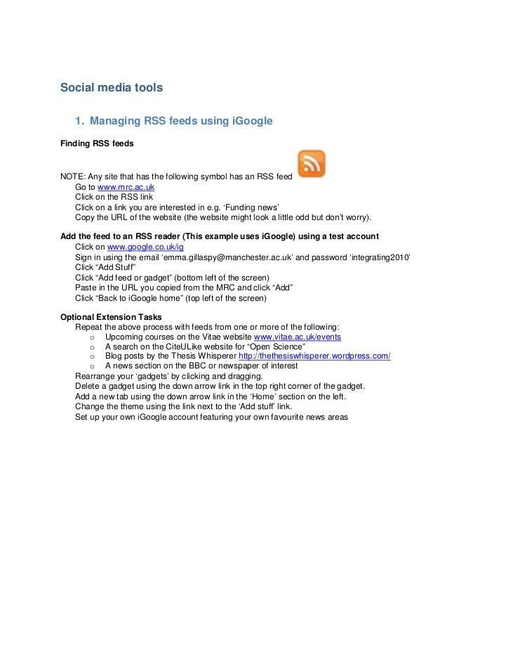 Digital researcher additional information