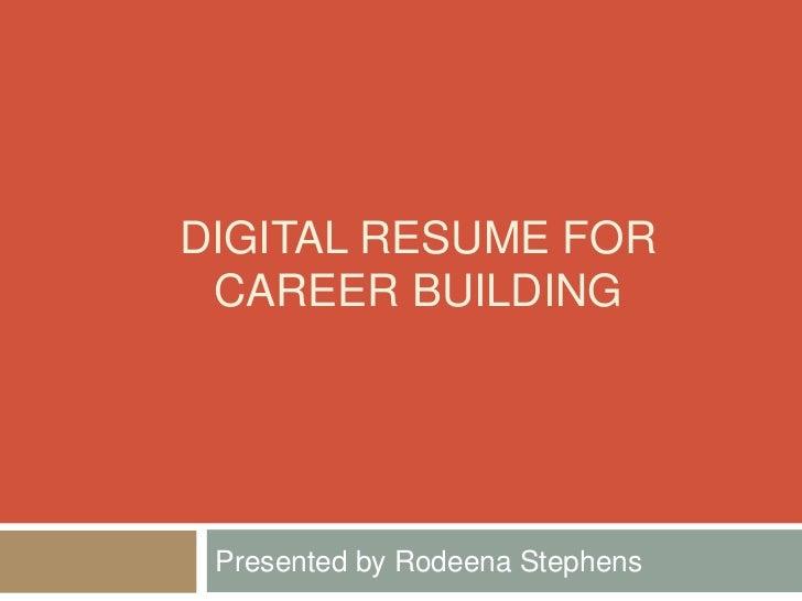 digital resume building workshop
