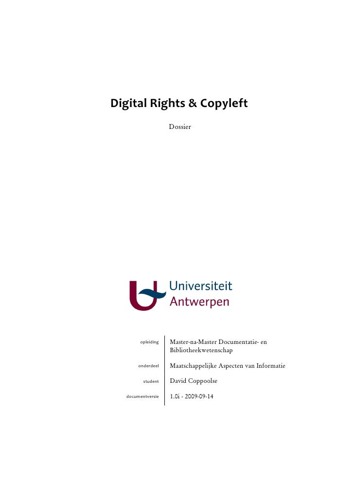 Digital Rights & Copyleft (Dossier)