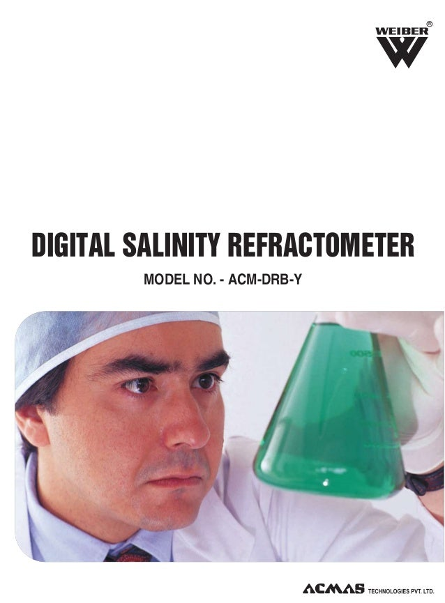 R  DIGITAL SALINITY REFRACTOMETER MODEL NO. - ACM-DRB-Y
