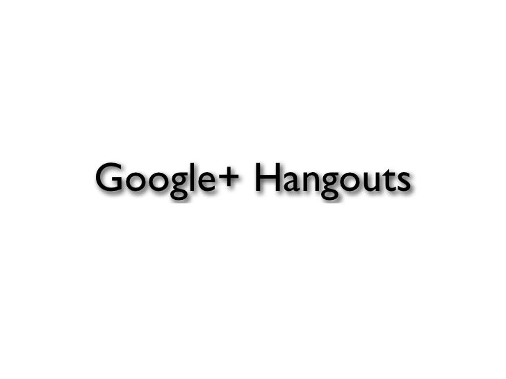 Google+ Hangouts at Digital Shoreditch