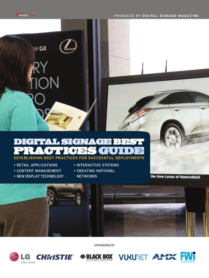 Digital Signage Best Practices Guide