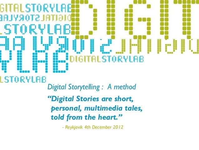 Digital storytelling 4dec island