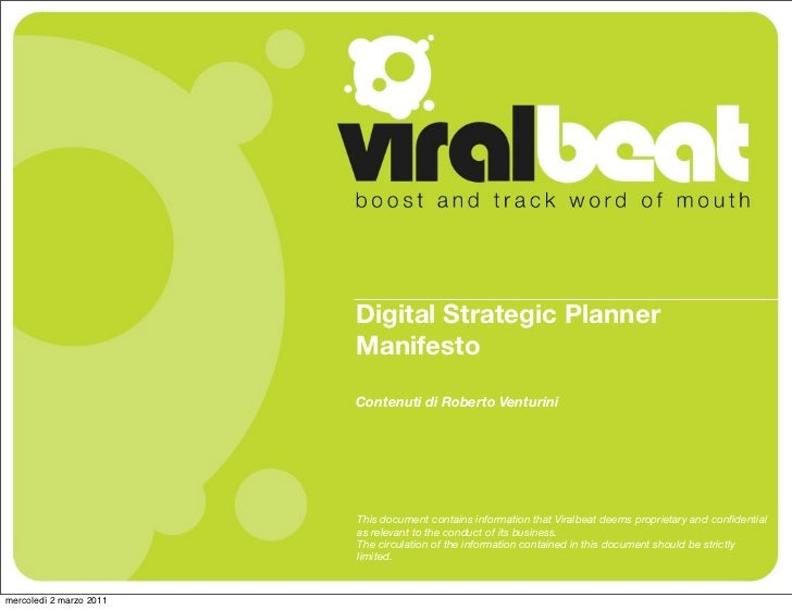 Digital Strategic Planner Manifesto