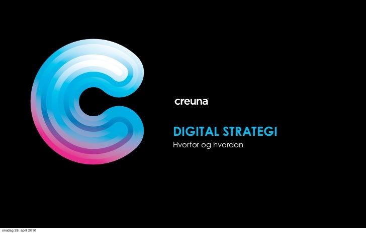 Digital strategi gulltaggen 2010