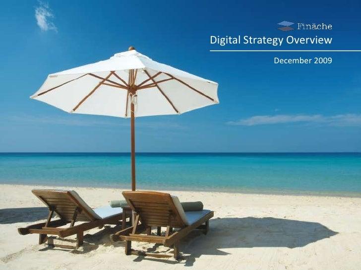 Digital Communications Strategy<br />January 2009<br />