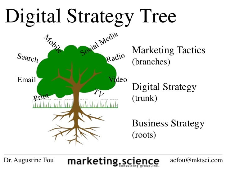 Digital Strategy Tree                            Marketing Tactics                            (branches)    Email         ...