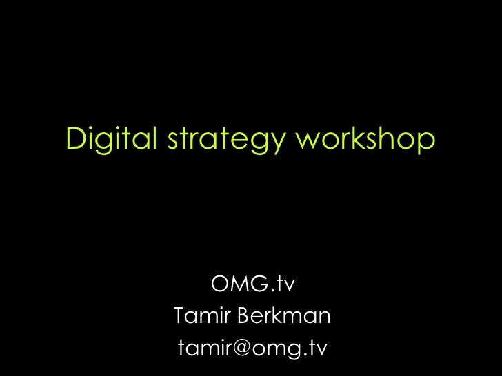 Digital Strategy Workshop V1