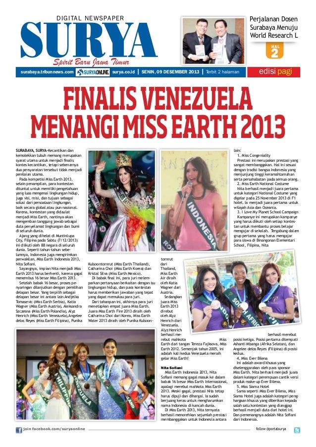 DIGITAL NEWSPAPER  Perjalanan Dosen Surabaya Menuju World Research L hal  Spirit Baru Jawa Timur surabaya.tribunnews.com  ...