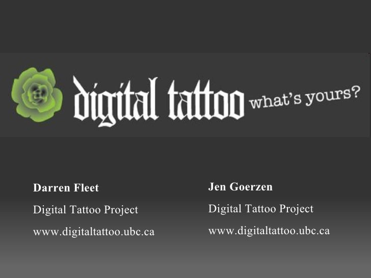 Digital Tattoo SLC 2010 Slideshow