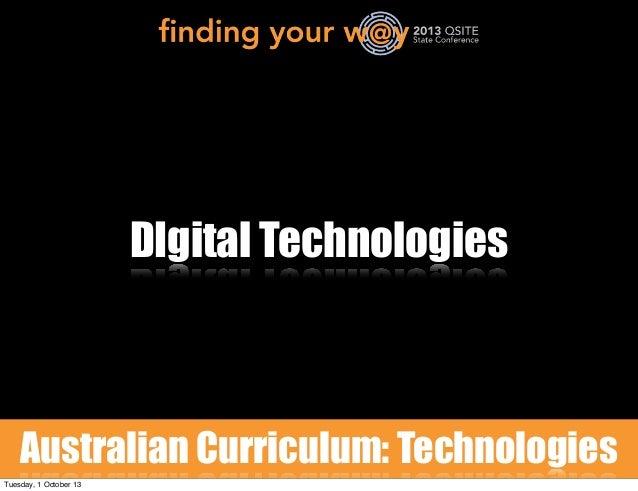 Digital Technologies 2013