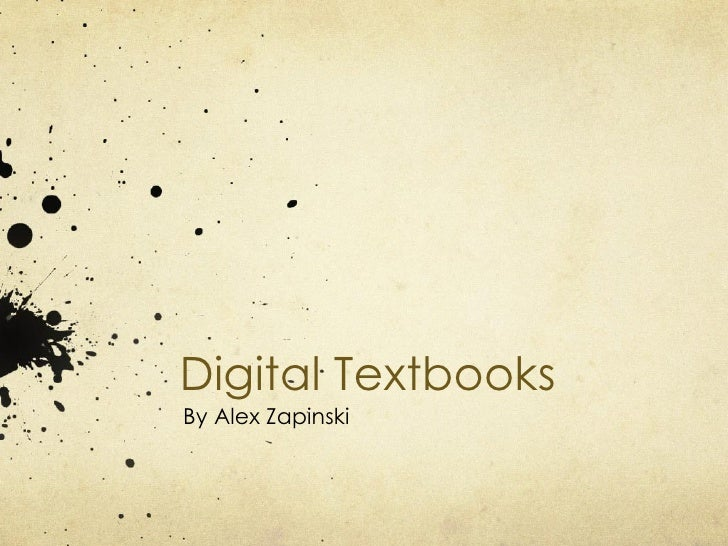 Digital Textbooks