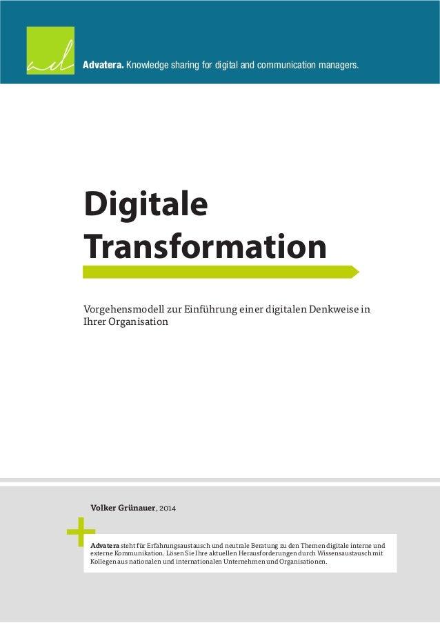 Advatera. Knowledge sharing for digital and communication managers.  Volker Grünauer, 2014  Advatera steht für Erfahrungsa...