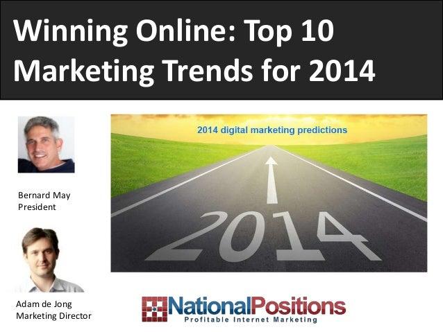 Winning Online: Digital Marketing 2014 Trends