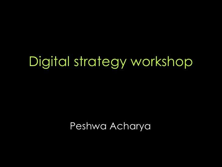 Digital strategy workshop Peshwa Acharya
