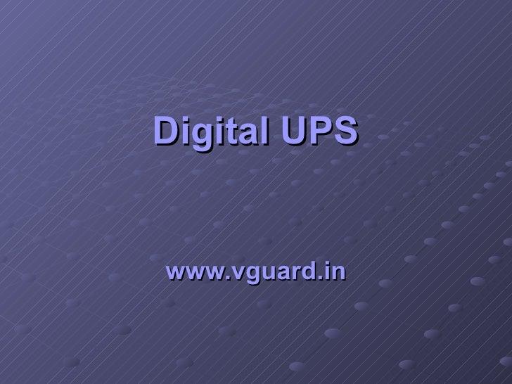 Digital UPS www.vguard.in