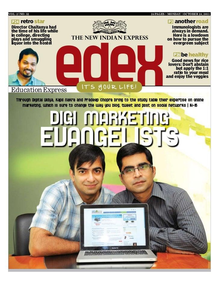 Digital Vidya: The new indian express (oct 24, 2011)