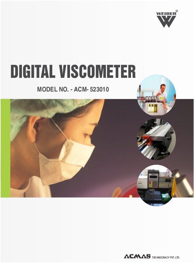 Digital Viscometer by ACMAS Technologies Pvt Ltd.