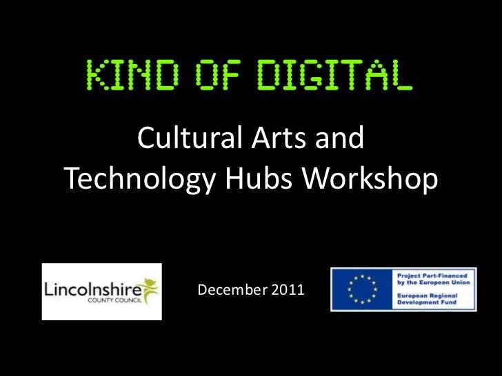 Cultural Arts andTechnology Hubs Workshop        December 2011