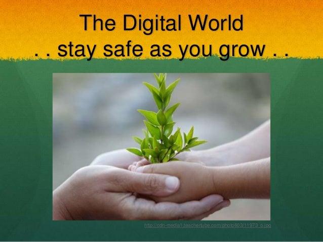 The Digital World . . stay safe as you grow . . http://cdn-media1.teachertube.com/photo603/11973_o.jpg
