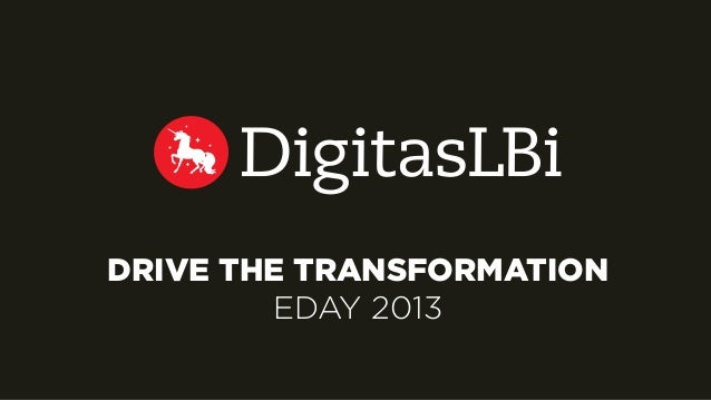 DRIVE THE TRANSFORMATION EDAY 2013