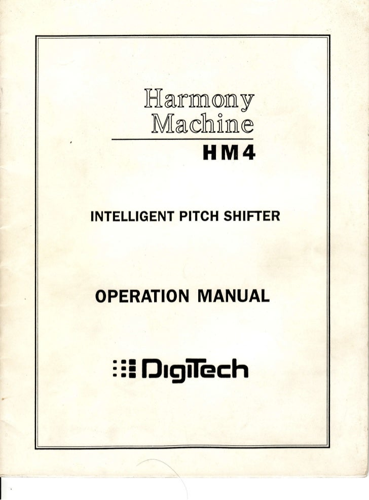 digitech hm4 harmony machine