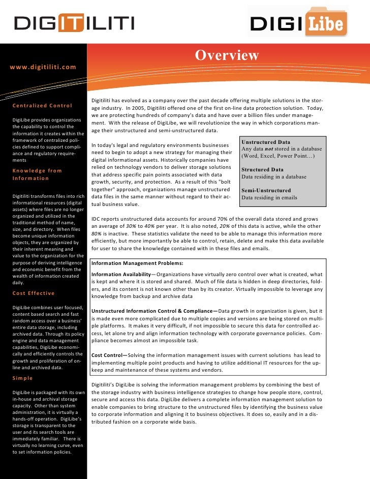 Overview www.digitiliti.com                                            Digitiliti has evolved as a company over the past d...