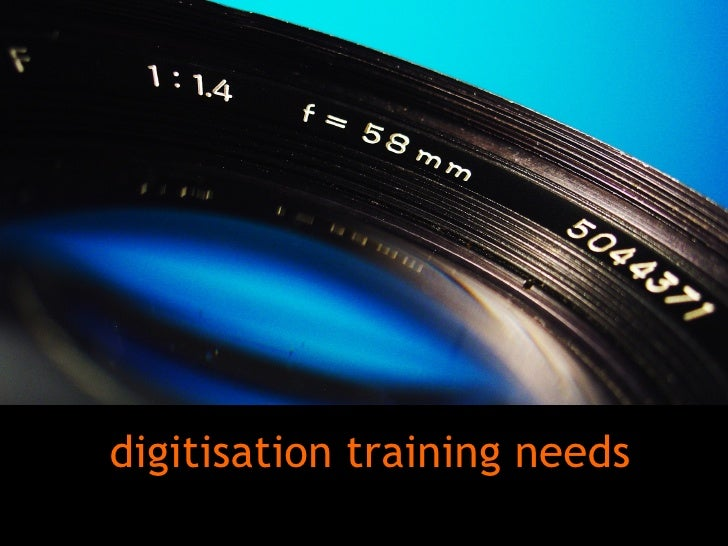 Digitisation training needs