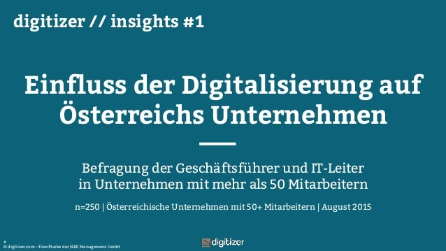 n=250, Österreichische Unternehmen mit 50+ Mitarbeitern, August 2015, Archiv-Nr.215063 © digitizer.com – Eine Marke der NB...