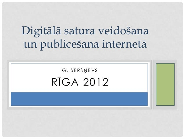 Digitālā  saturara publicēšna