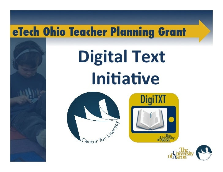 DigiTXT: eBooks, iPods and Early Elementary