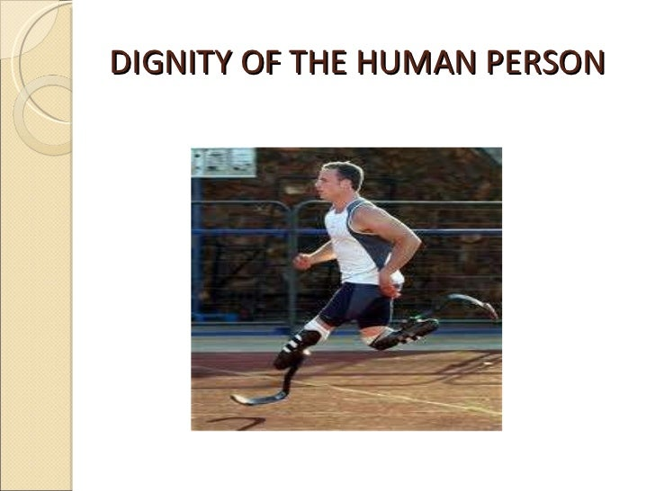 Dignity of the human person