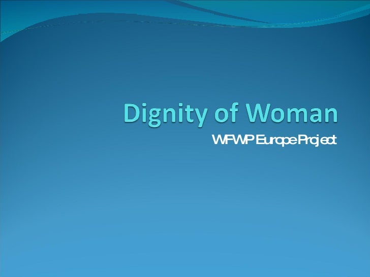 essay on dignity of women
