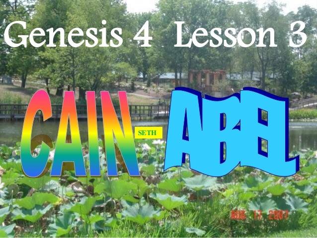 Genesis 4 Lesson 3 SETH