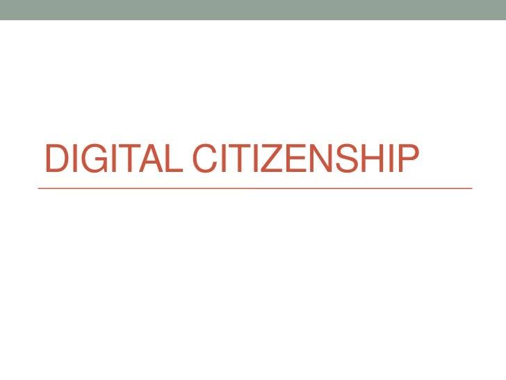 Digtial citizenship
