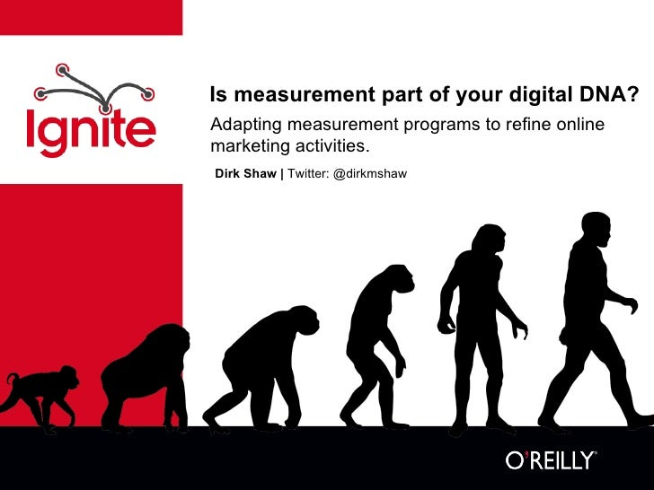 Is measurement part of your digital DNA? Dirk Shaw |  Twitter: @dirkmshaw Adapting measurement programs to refine online m...