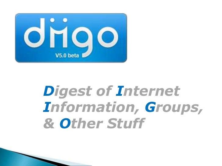 Digest of Internet Information, Groups, & Other Stuff<br />