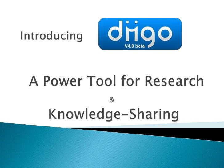 IntroducingA Power Tool for Research &         Knowledge-Sharing<br />