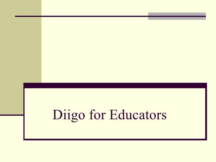 Diigo for Educators