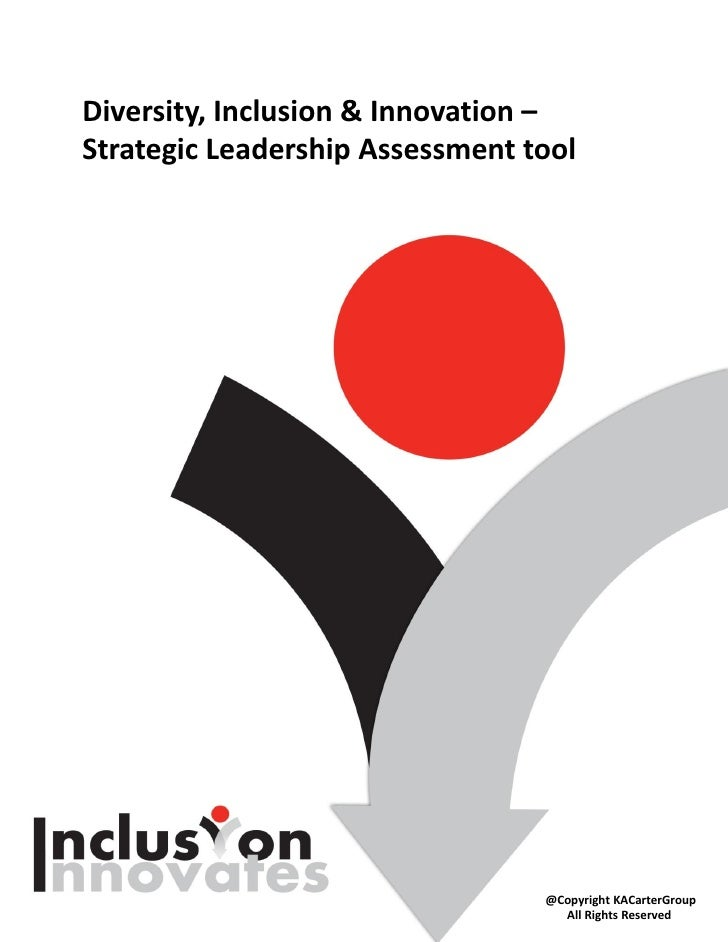 Diversity, Inclusion & Innovation –Strategic Leadership Assessment tool                                 @Copyright KACarte...