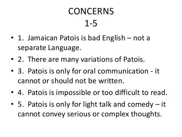 learn how to speak jamaican language