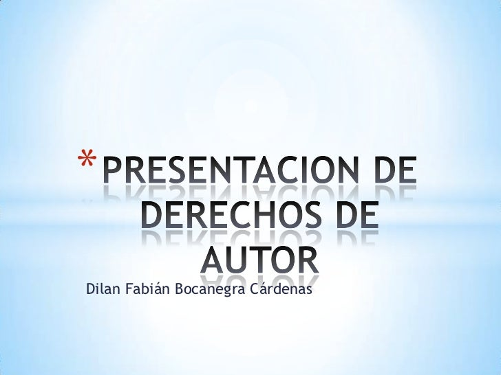 *Dilan Fabián Bocanegra Cárdenas