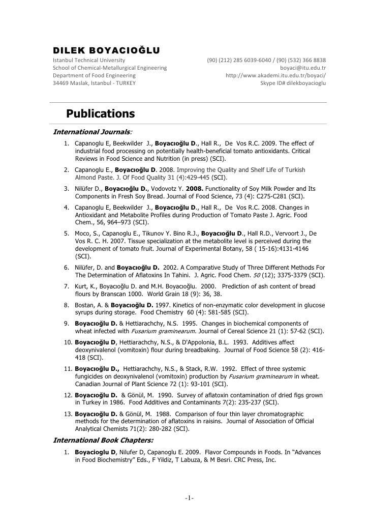 DILEK BOYACIOĞLU IstanbulTechnicalUniversity                           (90)(212)2856039‐6040/(90)(532)3668838 ...