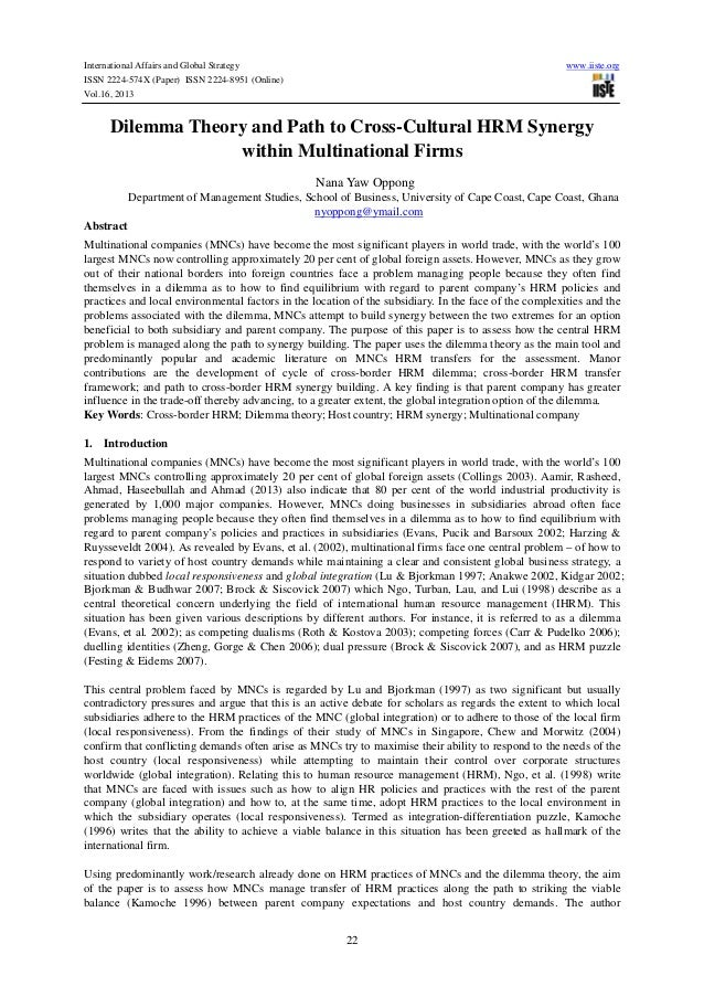 International Affairs and Global Strategy ISSN 2224-574X (Paper) ISSN 2224-8951 (Online) Vol.16, 2013  www.iiste.org  Dile...