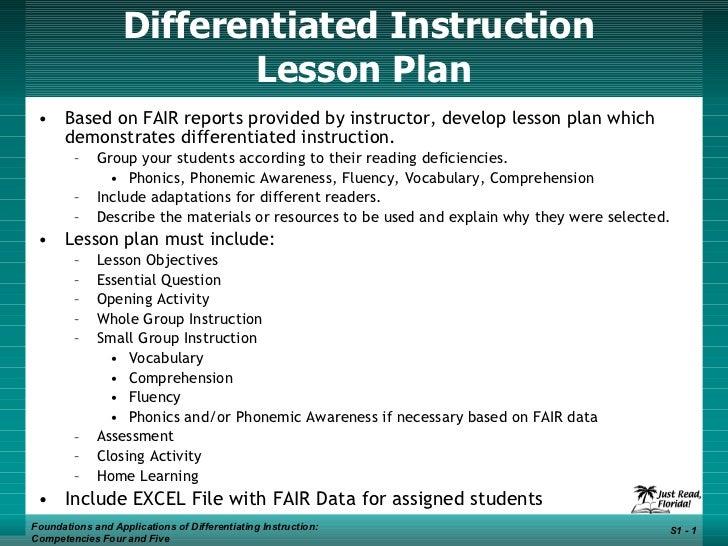 DI Lesson Plan
