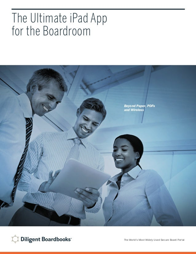 Diligent boardbooks brochure 2013